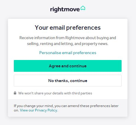 rightmove email preferences.