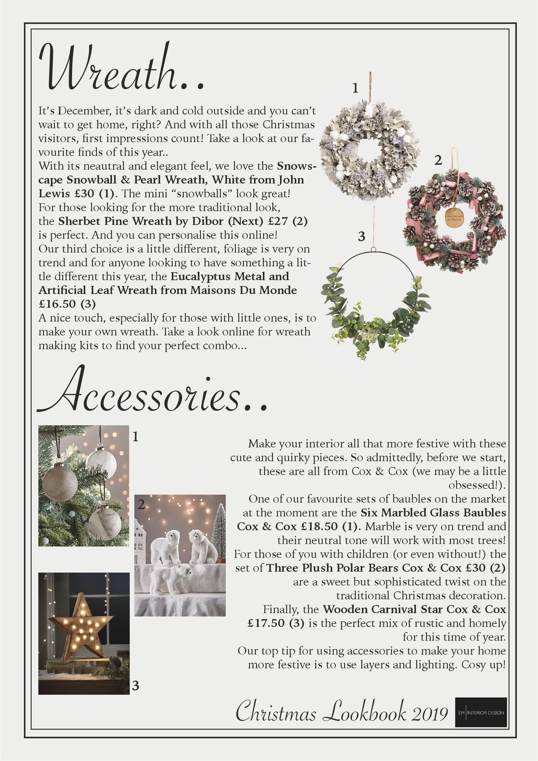 Christmas Wreaths & Accessories.